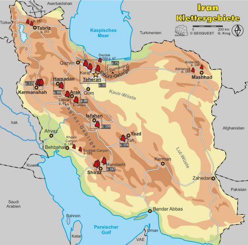 Iran Karte Deutsch.Face Of Iran Climbing Travel Guide Geoquest Verlag