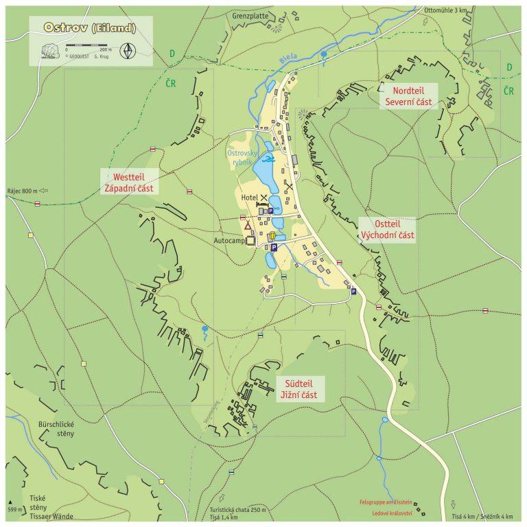 Übersichtskarte Ostrov