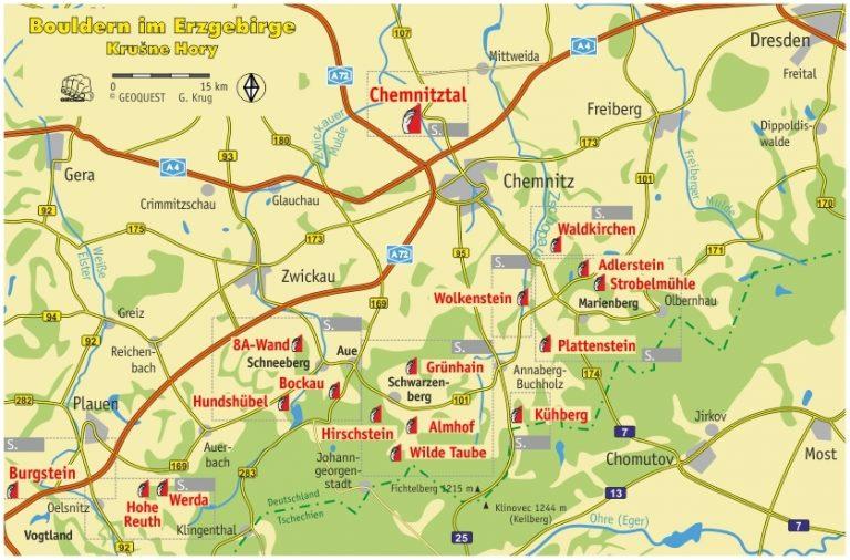 Boulderkarte Erzgebirge